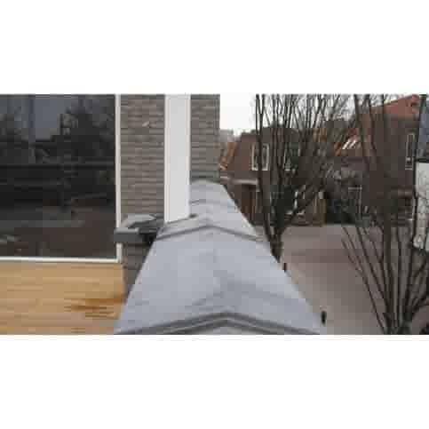 Muurafdekkers 2-zijdig, antraciet 15x100 cm
