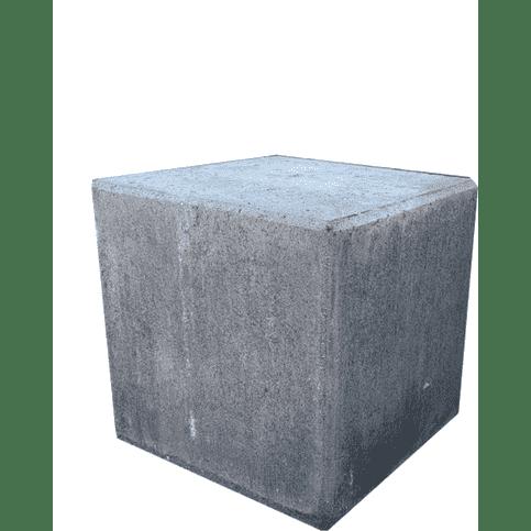 Kubus van antraciet beton 40cm