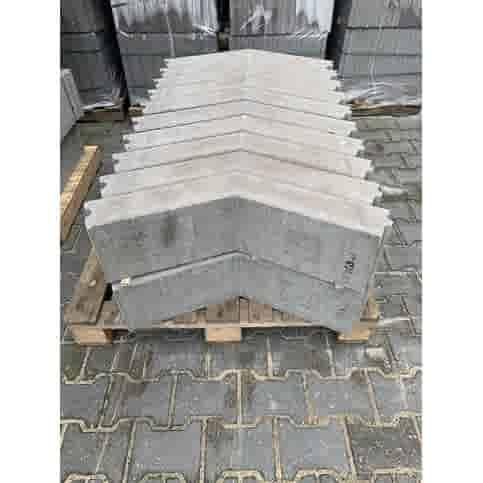Boordsteen hoekstuk grijs 10x20x40/40 cm 135°