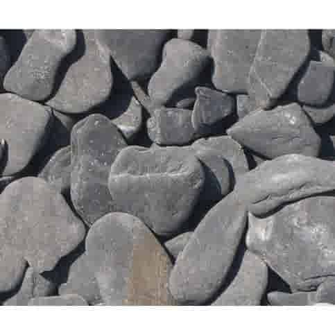 Flat pebbles zwart 30/60 mm Zakje 20 kg