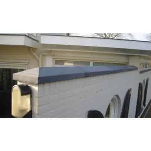 Muurafdekkers beton 2-zijdig antraciet 15x100
