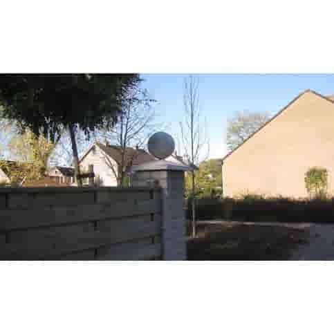Paalmutsen 35x35 cm met een bol van 12 cm