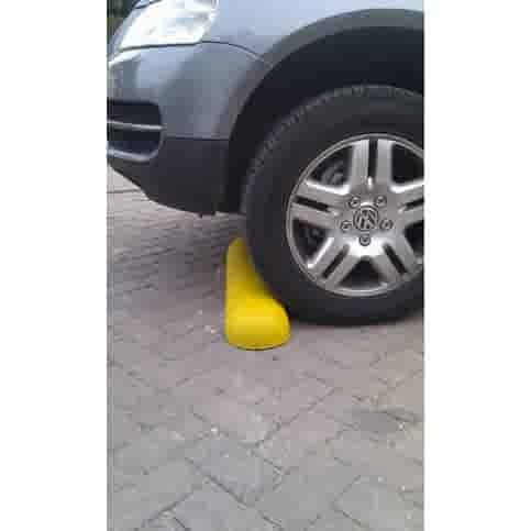 Varkensrug beton ROND geel