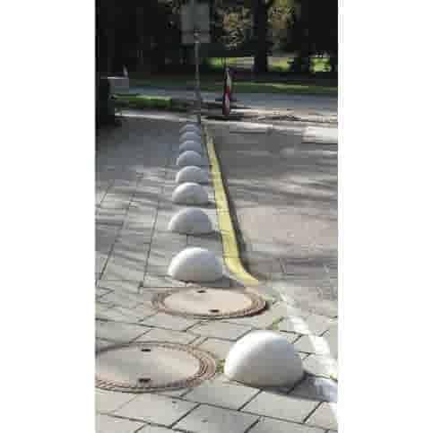 Parkeerbol grijs Ø50 cm