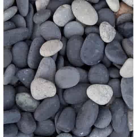 Beach pebbles zwart zak 20 kg