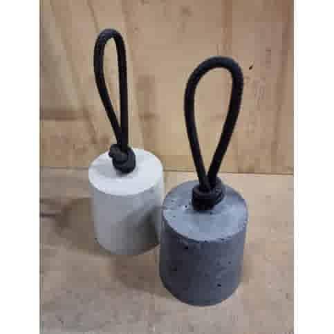 Betonnen Deurstopper met zwart touw