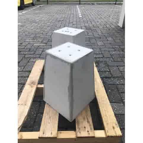 Prefab Betonpoeren grijs 17,5x17,5x35 cm M8
