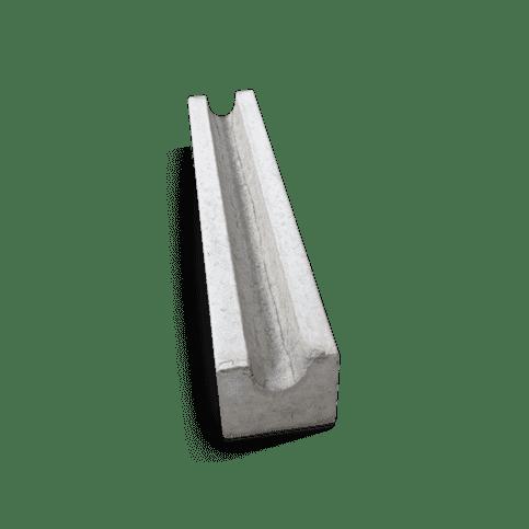 Fietsgoot grijs 100x20x20 cm
