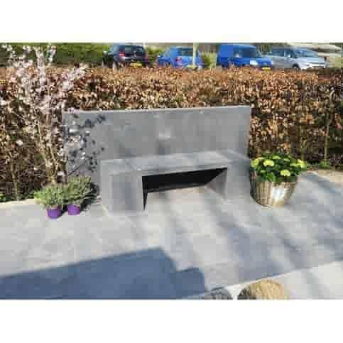 Betonnen tuinbank Oud Hollands antraciet